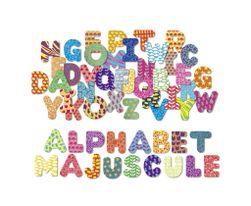 Vilac Dřevěné magnetky tiskací abeceda 56ks RZ_067029