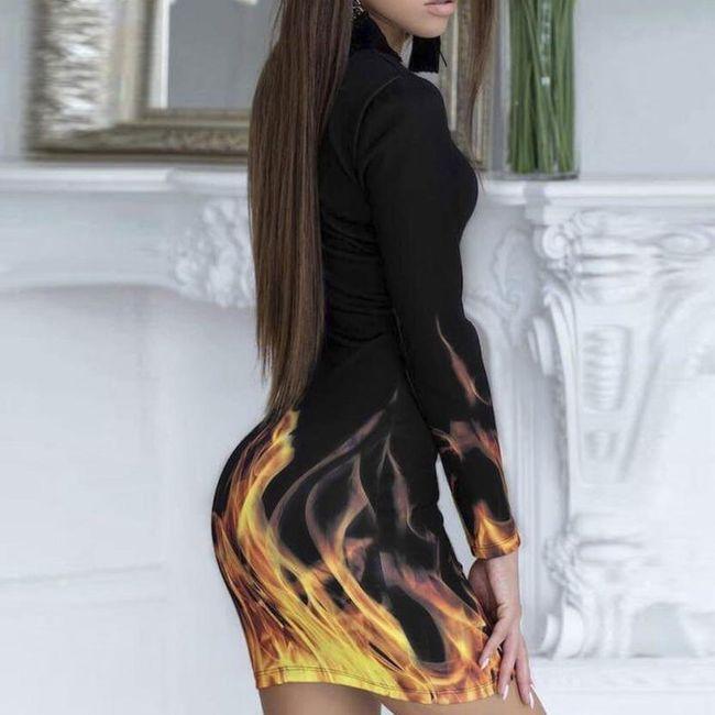Dámské šaty s plameny - velikost č. 4 1