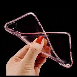 Silikonový kryt s kamínky - pro iPhone 5 / 5S / SE / 6 / 6S / 6 Plus / 6S Plus / 7 / 7 Plus