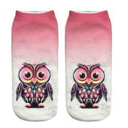Čarape sa motivom sove - 8 varijanti