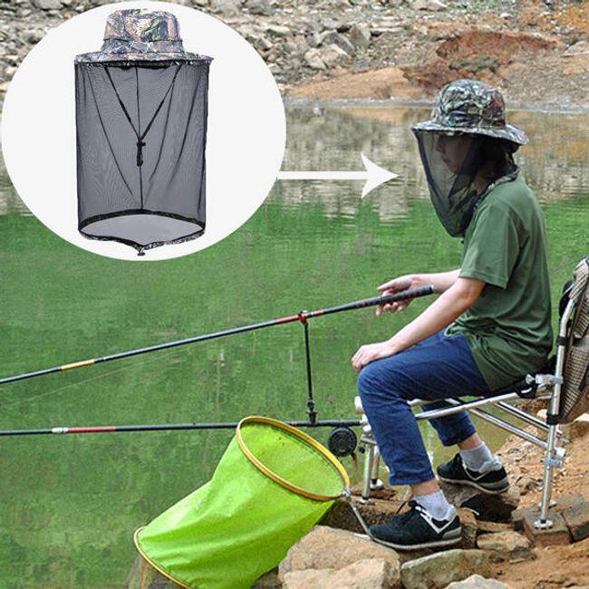 Шляпа для рыбака с москитной сеткой 1