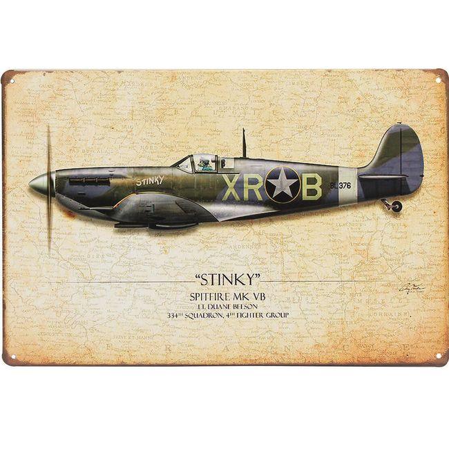 Retro tabla Spitfire 1