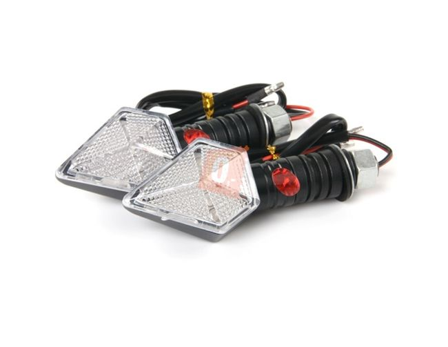 LED blinkry na motocykl 2ks s gumovou nohou - 13 LED diod, černé 1