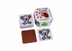 Pexeso Zvířátka 64 karet v plechové krabičce 6x6x4cm Hmaťák RM_10770392