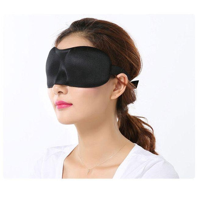 Maska za spanje - črna 1