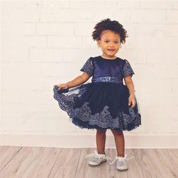 Dívčí šaty s krajkou - 3 barvy