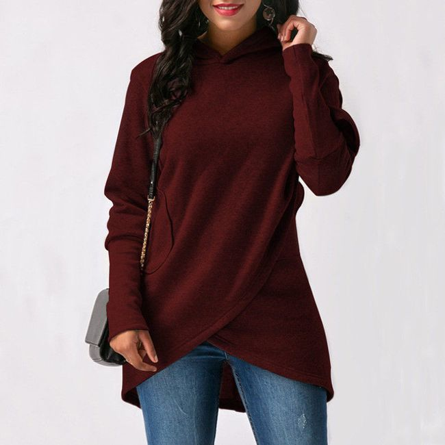 Aszimmetrikus női pulóver