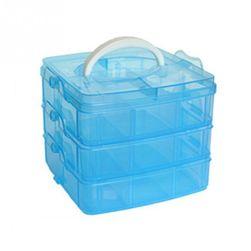 Пластиковый контейнер для украшений или мелких предметов- 4 расцветки