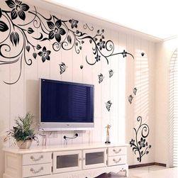 Duvar çıkartması - çiçekli wall art