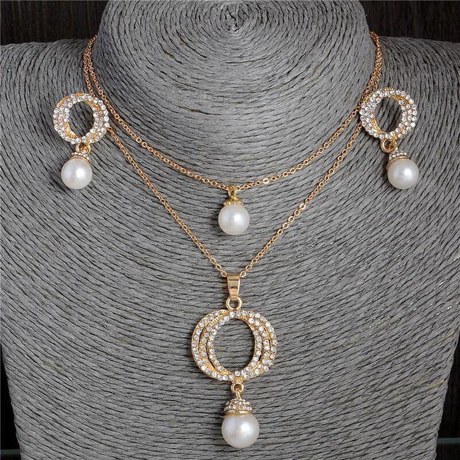Sada šperků se zdobením z umělých perliček a kamínků 1