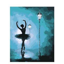 Pictură după numere - balerină pe stradă