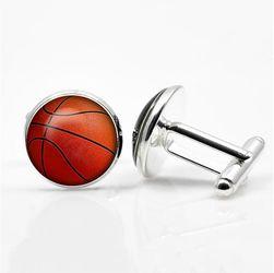 Manžetové knoflíčky s motivem basketbalového míče