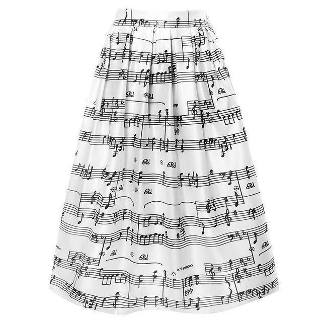 Dlouhá sukně - noty 1