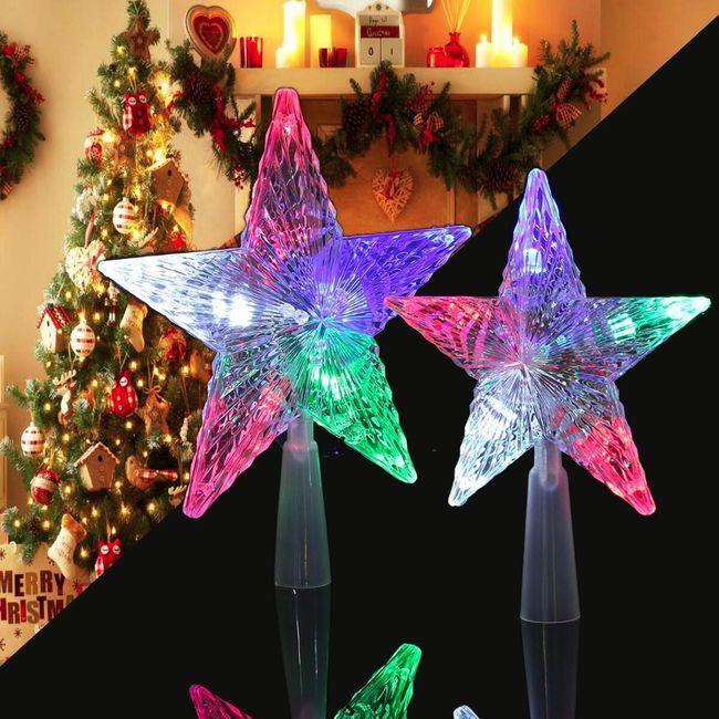 Szinesen világító karácsonyi csillag 1