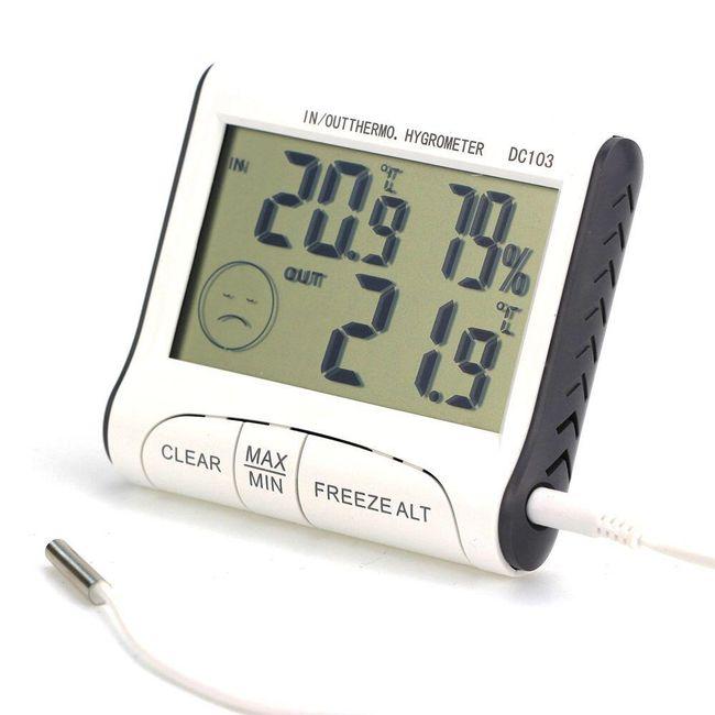 Eksterni i interni termometar i higrometar sa LCD displejem 1