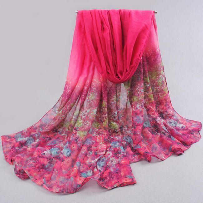 Dámský šátek v 6 barvách 1