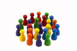 Figurky dřevo 25mm 24ks 6 barev společenská hra v sáčku 8x13cm RM_33013618