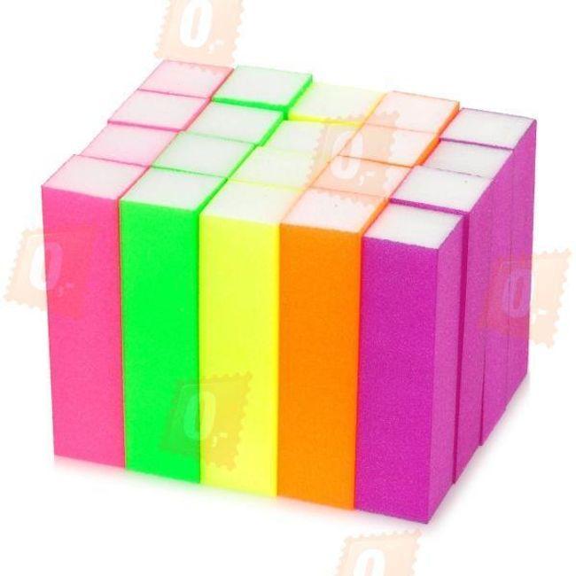Sada pilníků na nehty v neonových barvách - 20 kusů 1