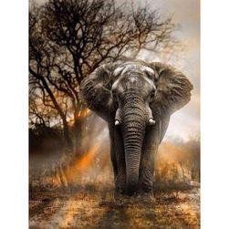 DIY 5D slika od kamenčića - Afrički slon