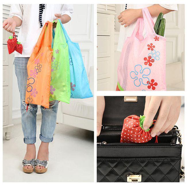 Skládací nákupní taška - jahůdka 1