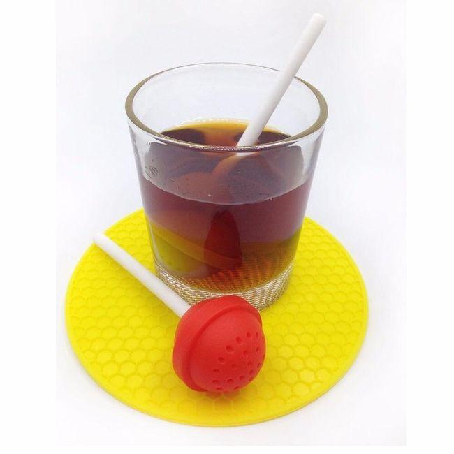 Sítko na čaj v podobě lízátka - 5 barev 1