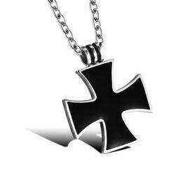 Stylowy męski łańcuszek z zawieszką w postaci krzyża
