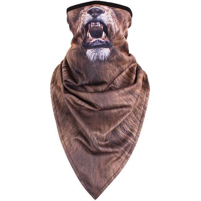 Muška marama sa 3D motivima životinja - 4 varijante 1