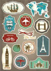 Podróżne naklejki - 12 wariantów