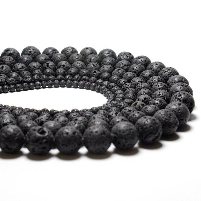 Lava kroglice za izdelavo nakita - 4 do 14 mm 1