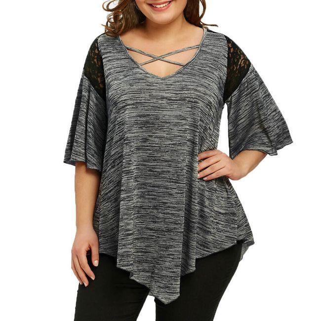 Ženska majica za punije - 3 boje 1