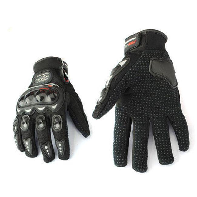 Motocyklistické rukavice černé L 1