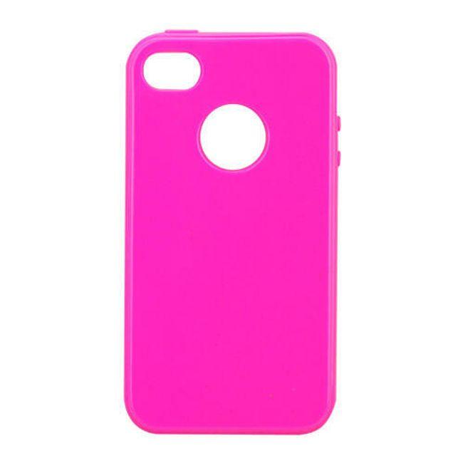 Průhledné ochranné pouzdro pro iPhone 4 a 4S - růžové 1