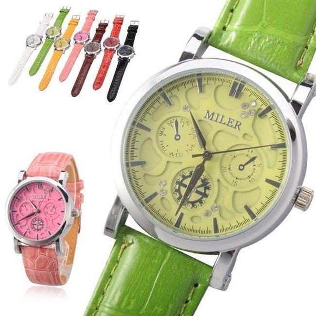 Dámské hodinky MILER s ozdobnými ciferníky - ve více barvách 1