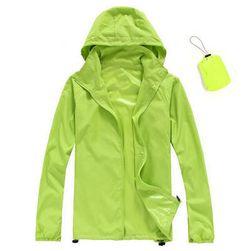 Unisex nepromokavá a skladná bunda do deště - Zelená-velikost č. 2