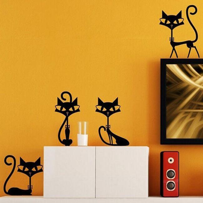 Matrica a falra - négy macska 1
