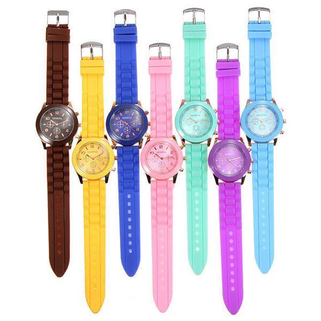 Silikonové hodinky GENEVA - na výběr ze 7 barev 1