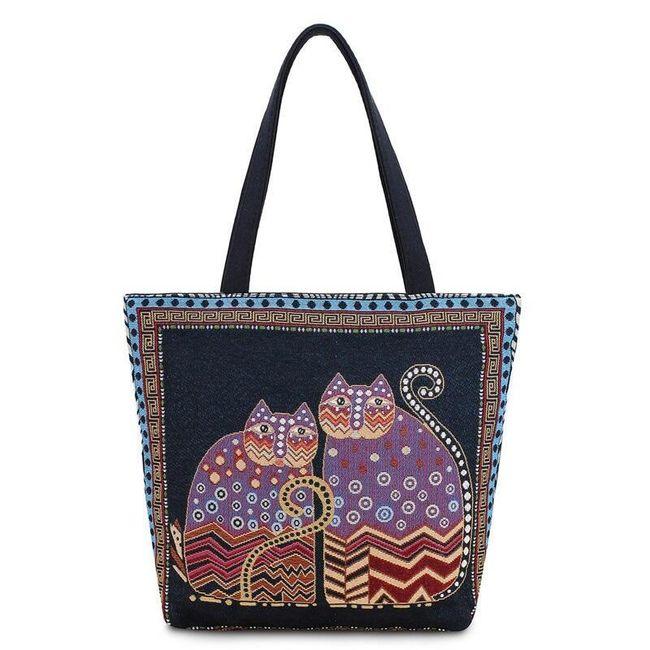 Женская сумка с кошками - несколько вариантов 1