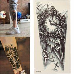 Privremena tetovaža - retro sat