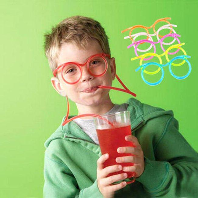 Szemüveg alakú szalma - Szemüveg , hosszúság 1m 1