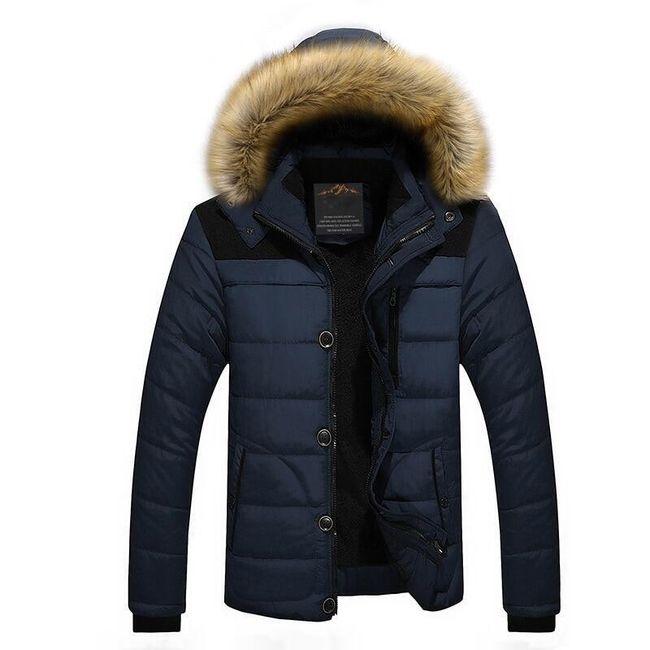 Pánská zimní bunda Oliver - Modrá-L 1