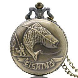 Ceas de buzunar vintage pentru pescari