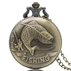 Винтидж джобен часовник за рибари