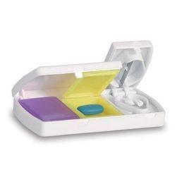 Plastová krabička na léky s kráječem