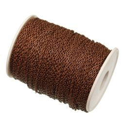 Металлическая цепочка для создания рукоделия 5 м.- 4 расцветки