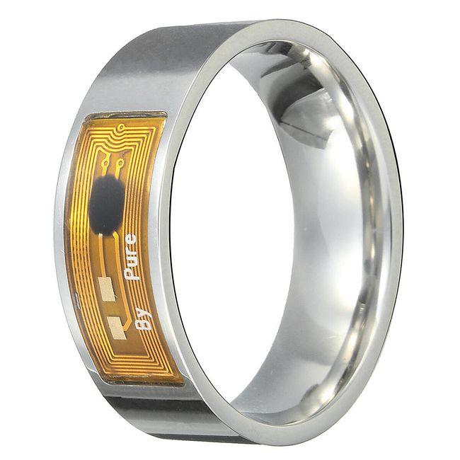 NFC pameten prstan - srebrna barva 1