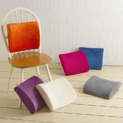 Plyšová zádová opěrka na židli - v 7 barvách
