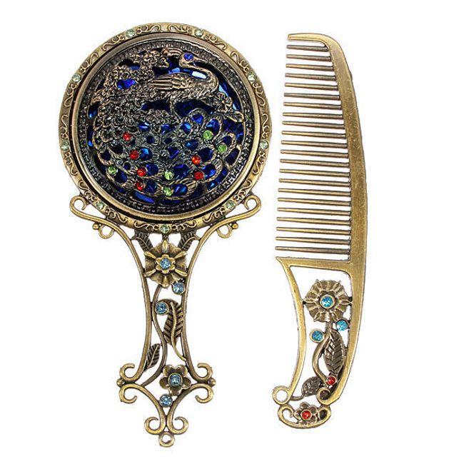 Ретро комплект - гребен с огледало 1