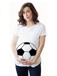 Majica za trudnice sa smešnim printom - 5 varijanti