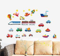 Samolepljiva nalepnica za zid dečije sobe - prevozno sredstvo