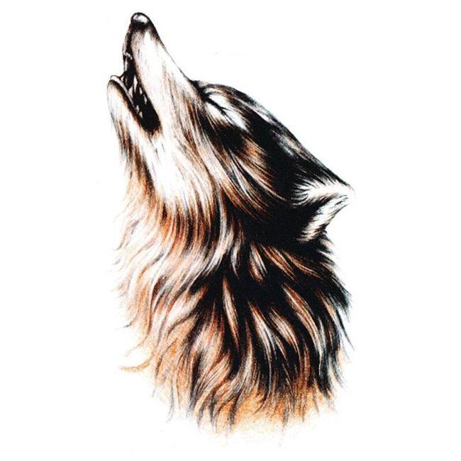 Privremena tetovaža sa vukom - 4 boje 1